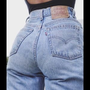 VTG  LEVIS TAPERED HIGH WAIST USA JEANS 11 30X30